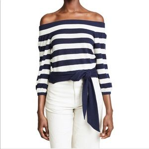 NEW Club Monaco cashmere off shoulder sweater